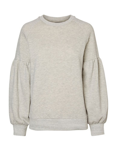Vero Moda Puffy Sweatshirt-GREY-Large 89105310_GREY_Large