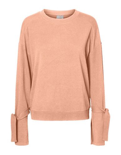 Vero Moda Knotted Sleeve Top-PINK-Large 89105306_PINK_Large