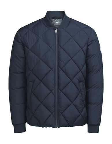 Jack & Jones Woven Bomber Jacket-NAVY-Large