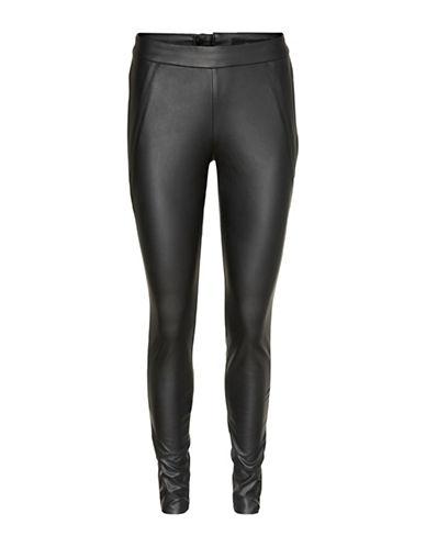 Vero Moda Sevena Stretch Leggings-BLACK-Small