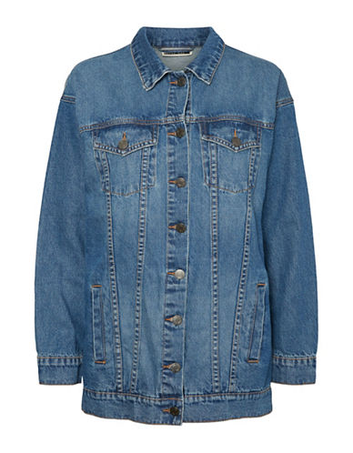 Noisy May Nmoli Denim Cotton Jacket-MEDIUM BLUE-Small