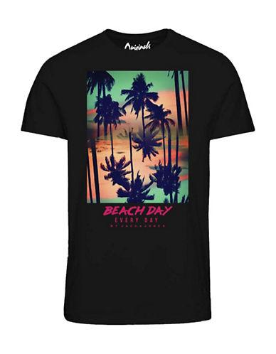 Jack & Jones Beach Day Everyday Cotton T-Shirt-BLACK-Large