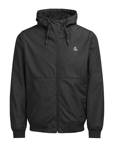 Jack & Jones Signature Drawstring Jacket-BLACK-X-Large