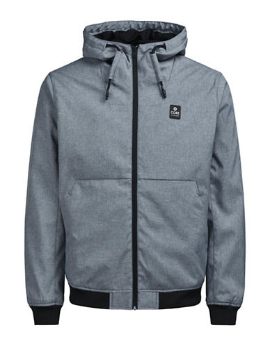 Jack & Jones Signature Drawstring Jacket-GREY-X-Large