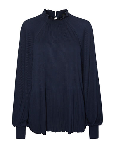 Vero Moda Alexandria Pleated Top-BLUE-Medium 89289540_BLUE_Medium