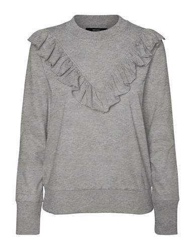 Vero Moda Sweetfrill Sweatshirt-GREY-Medium
