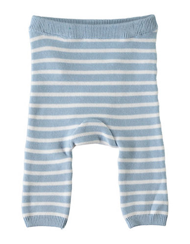 Name It Stripe Knit Cotton Pants-BLUE-3-6 Months