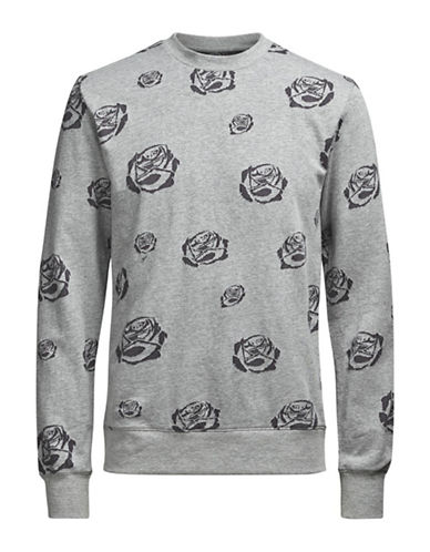 Jack & Jones Rose Cotton Sweater-GREY-XX-Large
