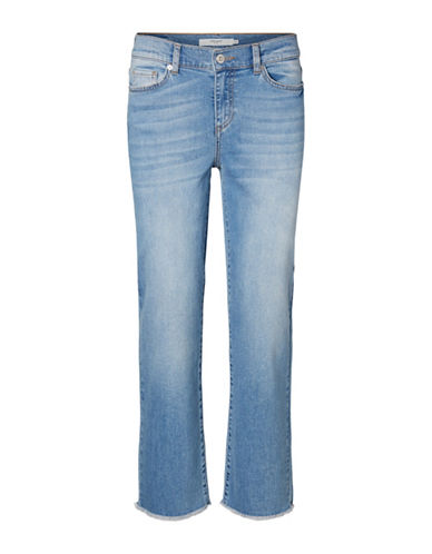 Vero Moda Fifteen Cropped Straight Jeans-BLUE-28