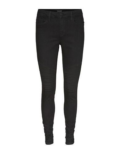 Vero Moda Seven Biker Jeans-BLACK-X-Small