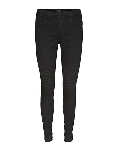 Vero Moda Seven Biker Jeans-BLACK-Large