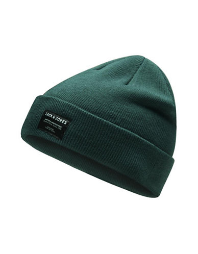 Jack & Jones Basic Knitted Beanie-GREEN-One Size