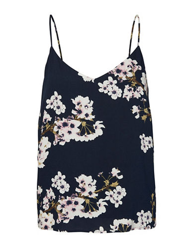 Vero Moda Floral-Printed Cami-BLUE-Large
