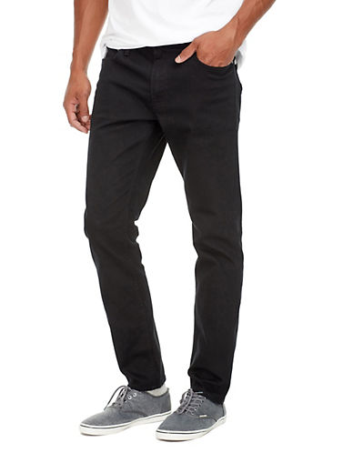 Jack & Jones Blocked Slim-Fit Jeans-BLACK-28X32