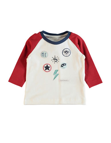 Name It Graphic Print Long-Sleeve Top-RED-4 Months