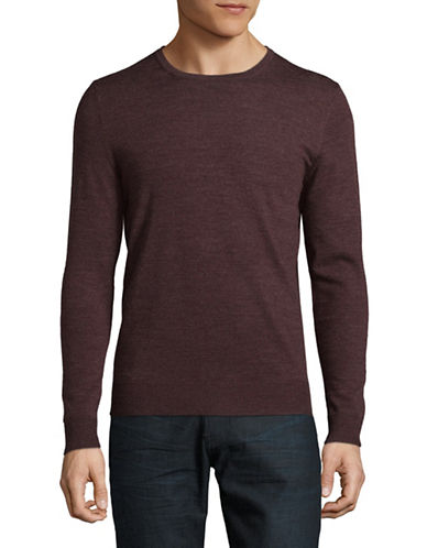 Jack And Jones Premium Merino Wool Crew Neck Sweater-RED-XX-Large