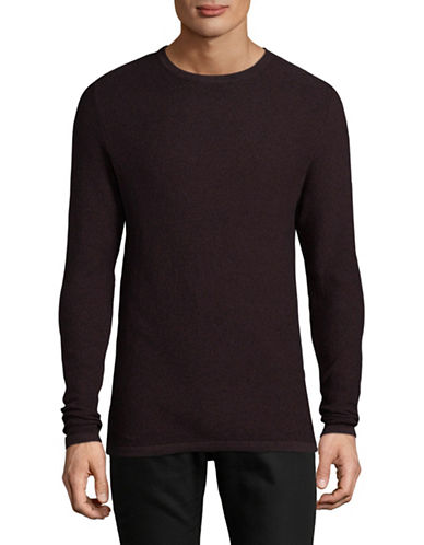 Jack And Jones Premium Crew Neck Sweater-BROWN-Small