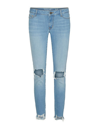 Noisy May S.S Destroyed Ankle Jeans-LIGHT BLUE-29X32