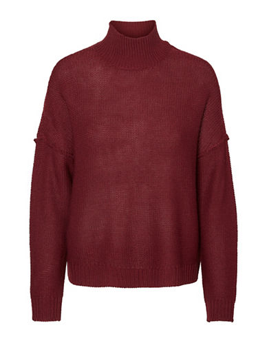Noisy May Reverse High Neck Sweater-ZINFANDEL-Small