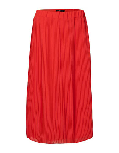 Vero Moda Pleated Floor-Length Skirt-RED-Large