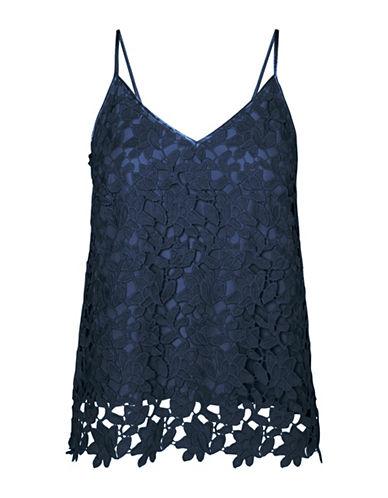 Vero Moda Beauti Lace Top-BLUE-Medium