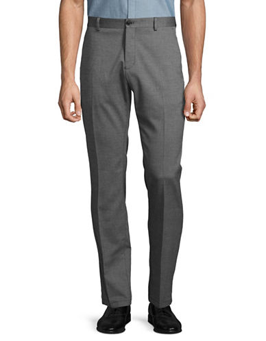 Selected Homme Slim-Leg Woven Trousers-GREY-31X32