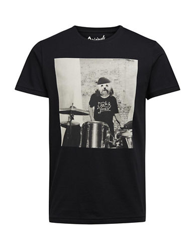 Jack & Jones Dark Days Lama T-Shirt-BLACK-Large