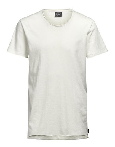 Jack & Jones Jorhem Short Sleeve Cotton Tee-WHITE-X-Large