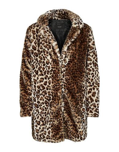 Vero Moda Debora Faux Fur Jacket-BEIGE-X-Small