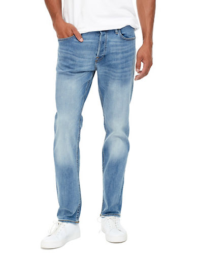 Jack & Jones Washed Regular-Fit Jeans-BLUE-32X34