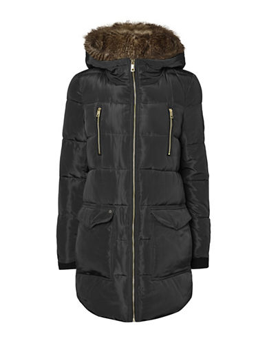 Vero Moda Faux Fur Hooded Jacket-BLACK-Medium 89521433_BLACK_Medium