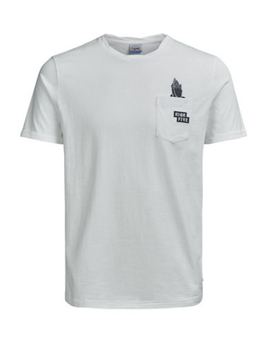 Jack & Jones Not Sorry Cotton T-Shirt-WHITE-Small