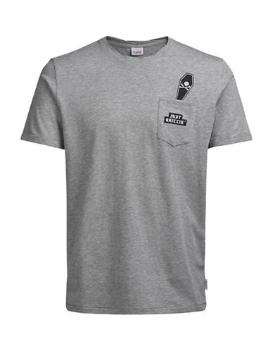 Jack & Jones Not Sorry Cotton T-Shirt-GREY-Medium