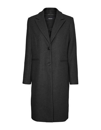 Vero Moda Blaza Buttoned Coat-BLACK-X-Small