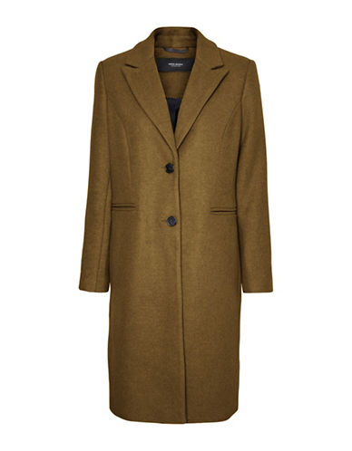 Vero Moda Blaza Buttoned Coat-DARK OLIVE-X-Small