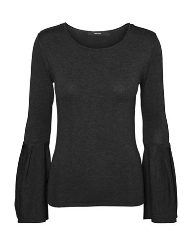 Vero Moda Glory Bell Sleeve Blouse-GREY-Small