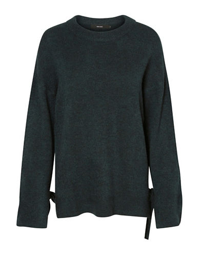 Vero Moda Cersei Tie-Sleeve Sweater-GREEN-Small