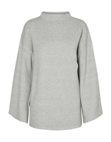 Vero Moda Funnelneck Sweater-GREY-Small