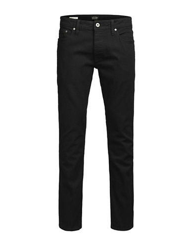 Jack & Jones Slim-Fit Jeans-BLACK-36X34