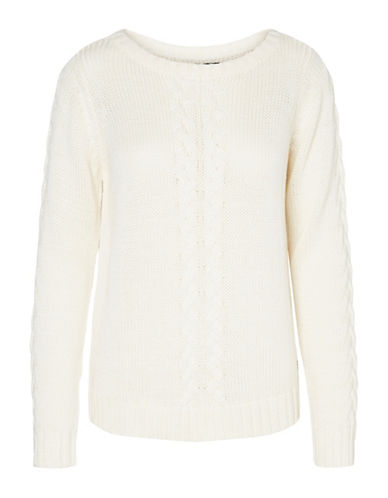 Vero Moda Zoe Joya Knitted Boat Neck Blouse-WHITE-Medium 89425625_WHITE_Medium