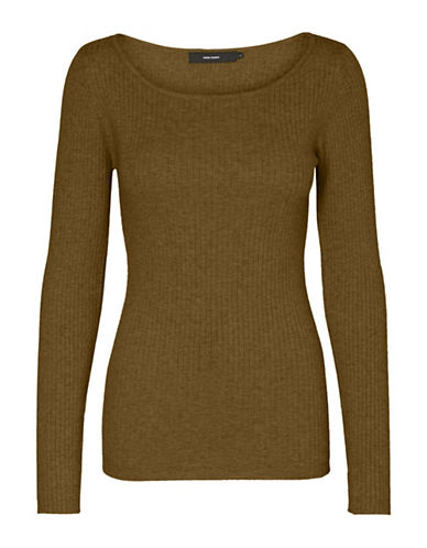 Vero Moda Boat Neck Sweater-DARK OLIVE-Small