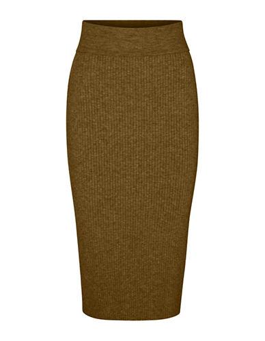 Vero Moda Hermosa High-Waist Skirt-DARK OLIVE-X-Small