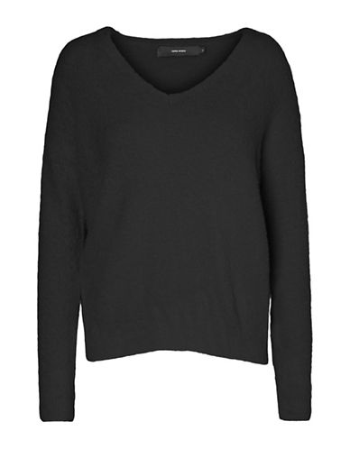 Vero Moda Morana Long Sleeve Top-BLACK-X-Small
