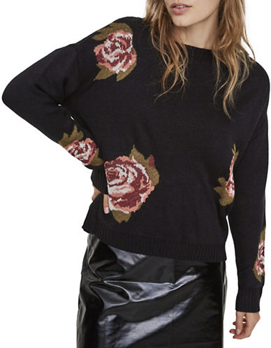 Vero Moda Belmont Floral Sweater-BLACK-Medium