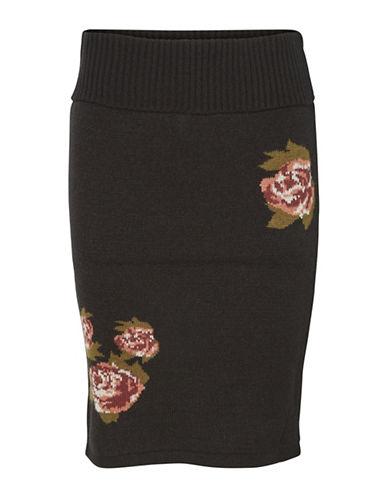 Vero Moda Belmont Floral Skirt-BLACK-Large