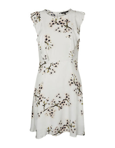 Vero Moda Sally Poly Short Dress-WHITE-Large
