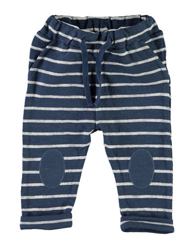 Name It Striped Cotton Pants-NAVY-12 Months