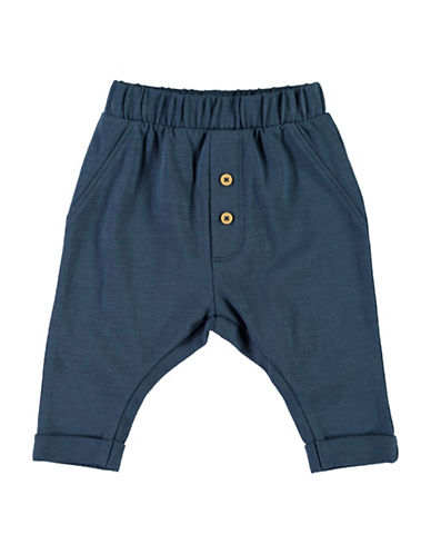 Name It Drop-Crotch Soft Pants-BLUE-2 Months