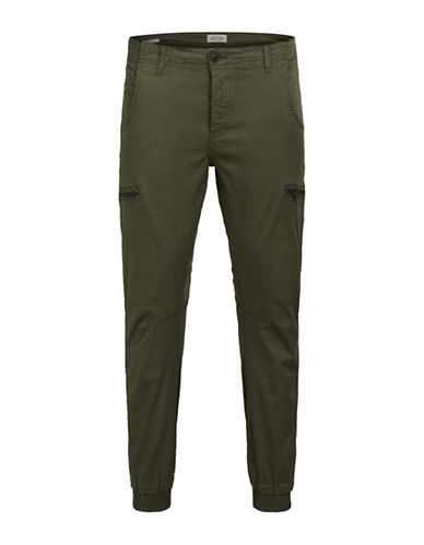Jack & Jones Cotton Cargo Pants-GREEN-30X32