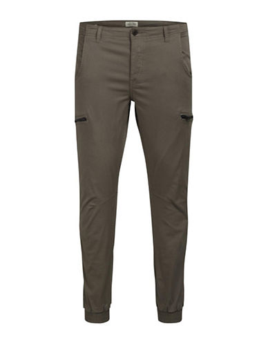 Jack & Jones Cotton Cargo Pants-BEIGE-34X34